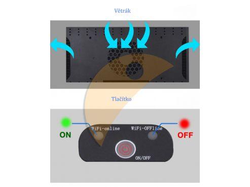 Jebao AL LED – tlačítko
