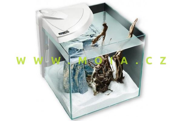 Kompletní akvárium 30 white All-in one (filtr + čerpadlo + topítko 50W + On/Off LED)