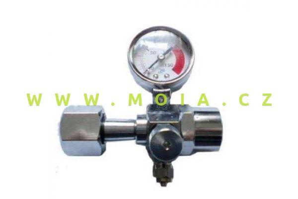 V2redukční ventil na CO2 - připojení DIN477
