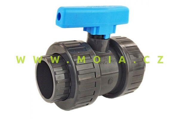 PVC kul. ventil s pojistkou 16 x 16