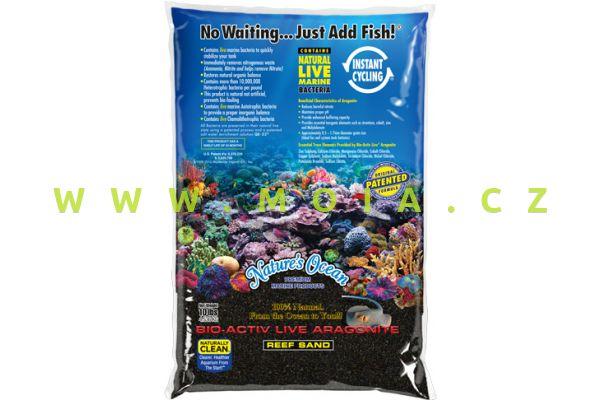 Black Beach - velmi jemný živý písek Nature´s Ocean Bio-Activ 0,5-1,7 mm sáček 9,07 kg