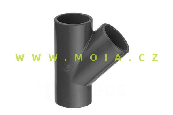 PVC T-kus 45°  16 x 16 x 16