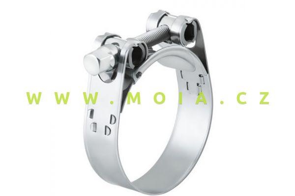 Vysoce kvalitní spony š. 20 mm na silikonové hadice max. D 43 mm (pro hadice 32 mm)