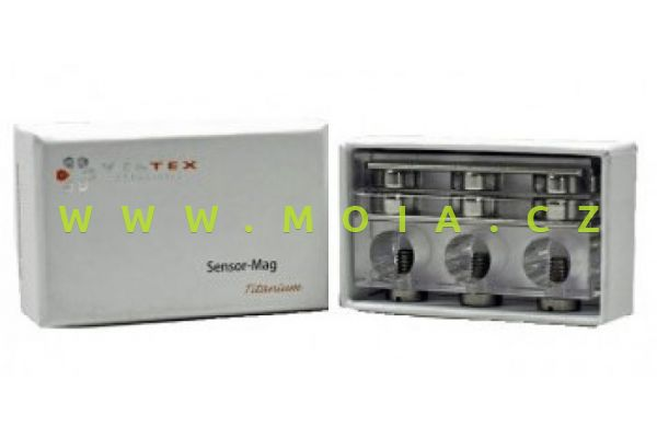 Magnetický držák titanový pro 3 elektrody – otvory 3x12mm