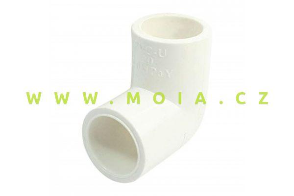 PVC koleno 90° bílé 50 x 50