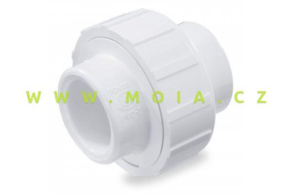 Trubková spojka bílá 40mm (šroubení)