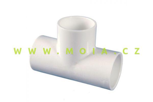 PVC T-kus bílý 40 x 40 x 40