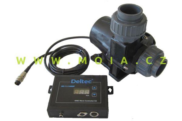 Čerpadlo 24V, nehlučné, regulační DELTEC E-FLOW 12: max.11800l/hod, 8 m, 130 W