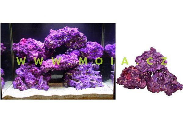 Fluorescent purple karibský korálový kámen Coral Rock Nature´s Ocean (karton 18,14 kg)