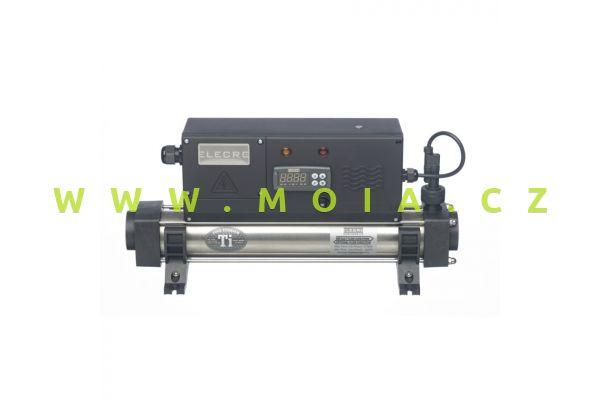 Průtokový digitální titanový ohřívač pro mořská akvária Titanium 2KW, 230 Volt
