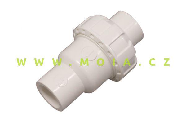 Jednostranný zpětný ventil bílý 20mm