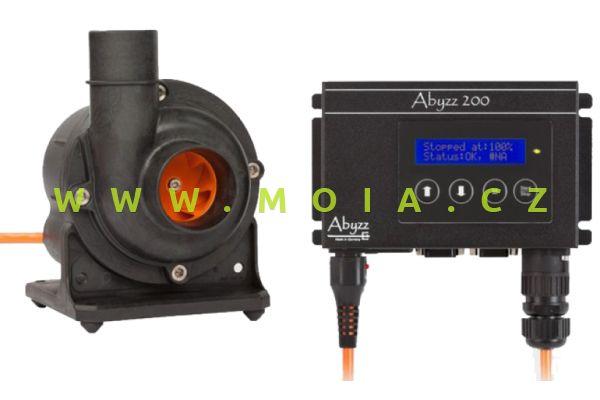 Čerpadlo Abyzz A200 - 3 m kabel: 0 až 14.500 l/hod, 4 až 200 W, max. 9 m
