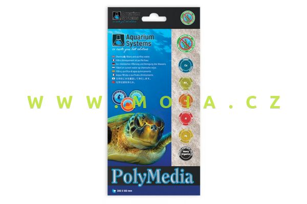 Jedinečný filtrační materiál Poly-Media Standard 20 ×10 cm