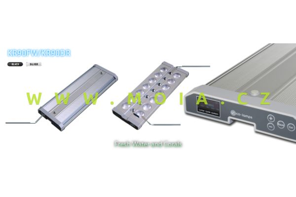 LED eco-lamps KR90-18, 30 W, 470 × 122 × 24 mm, stříbrná