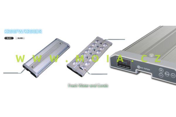 LED eco-lamps KR90-24 DeepReef, 50 W, 620 × 122 × 24 mm, stříbrná
