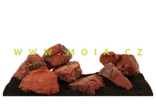 Estetická dekorace – Červený Jasper, bílé žíhání, cena/kg