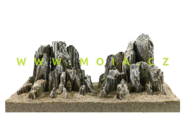 Estetická dekorace - Dramatická skála se slídovým efektem, šedá, cena/kg