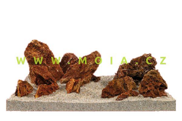 Estetická dekorace - Zkamenělina, červeno-hnědá, cena/kg