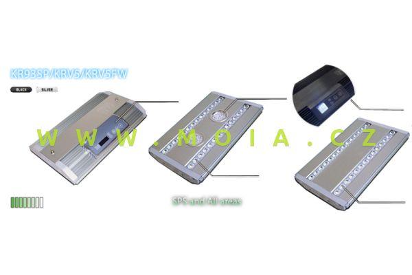 LED eco-lamps KRV5-18 stříbrná, max. 150 W, 471 × 205 × 35 mm