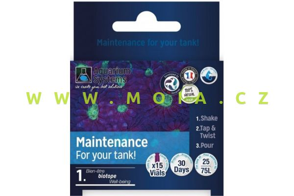 Dr.Tim´s program Maintenance - údržby pro NANO mořská akvária