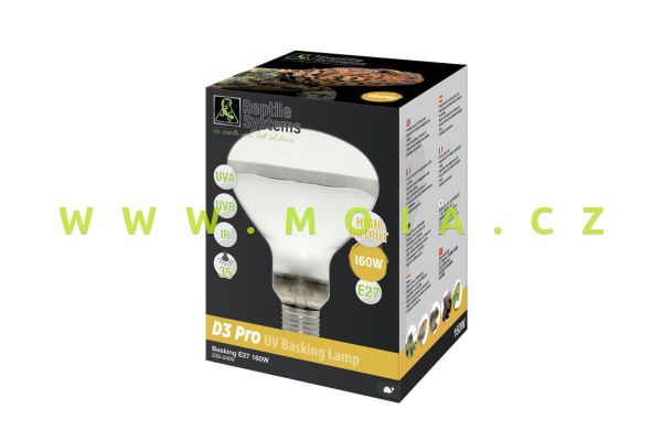 Zone 4 výbojka Reptile Systems, MERCURY VAPOR UV Basking Lamp – E27, 160 W