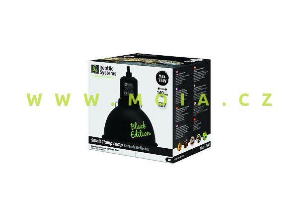Clamp Lamp Black Edition Small 140mm – otočný reflektor, keramická objímka E27, do 75 W