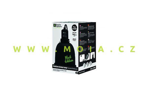 Clamp Lamp Black Edition Medium 140mm-otočný reflektor, keramická objímka E27, do 100 W