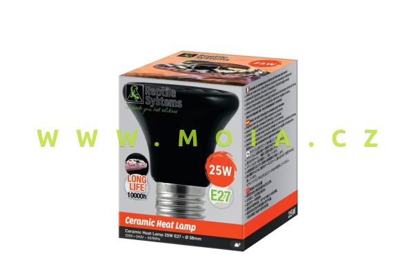 Ceramic Heat Emitter, E27- 25 W – keramický zářič Reptile Systems pro terária