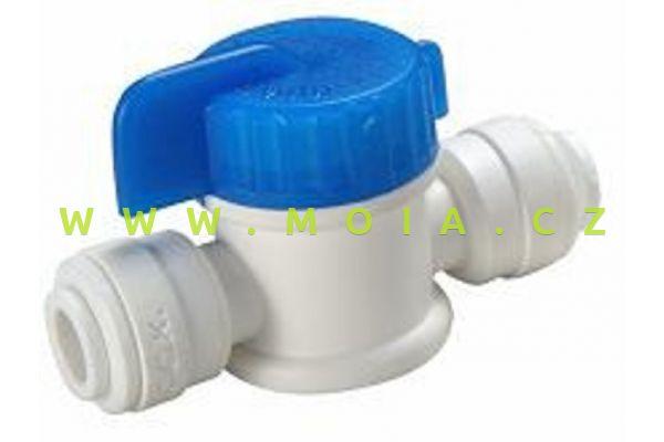"""PVC kulový ventil s rychloupínáním - hadička 1/4"""""""