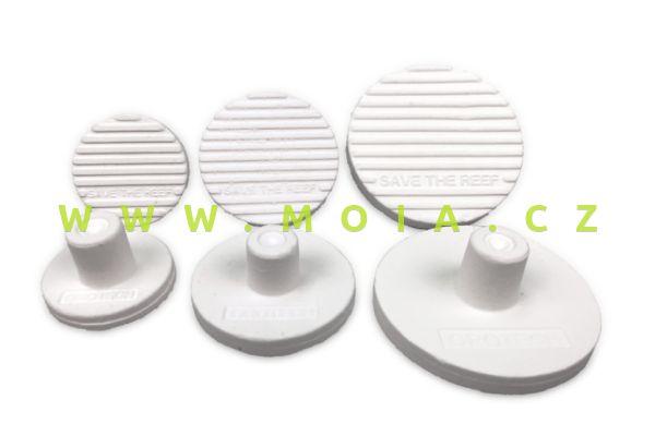 Sáček 15 ks keramický podklad pro lepení korálů Ceramic Frag Plugs 22 mm