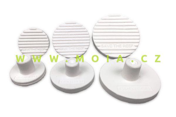 Sáček 12 ks keramický podklad pro lepení korálů Ceramic Frag Plugs 40 mm