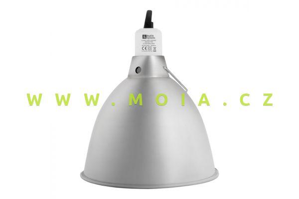 Clamp Lamp Silver Edition Small 140mm – otočný reflektor, keramická objímka E27, do 75 W