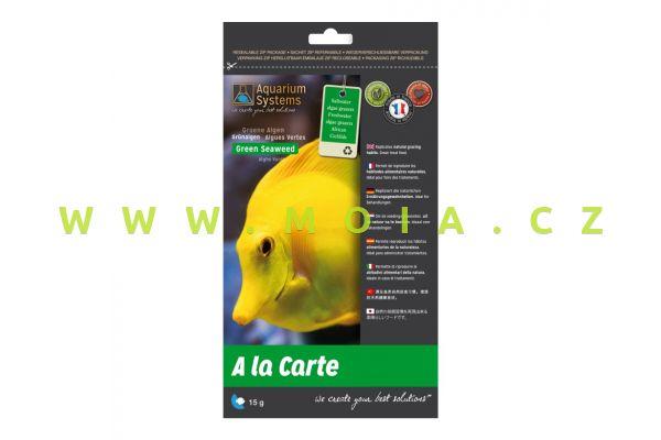 A la Carte Green Seaweed 15 g, 100% přírodní krmení mořských rybek s vitamíny a minerál