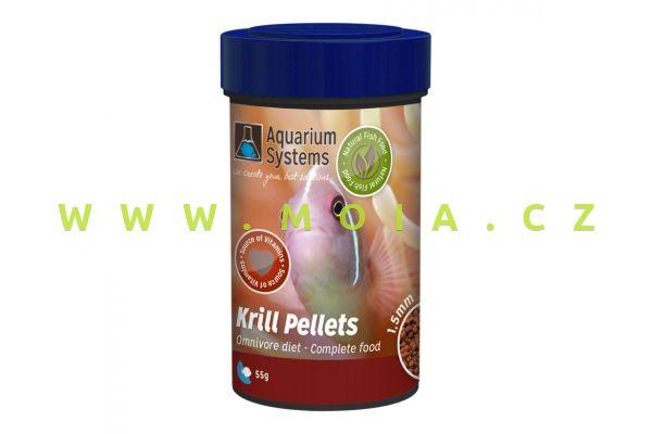 Krill Pellets – Omnivore 1,5 mm – 100 ml – 60 g, granulované krmení akvarijních rybek