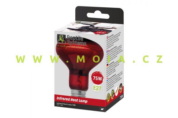 Basking Infra Red Heat Lamp E27, 75 W – IR zdroj Reptile Systems pro optimální teplotu