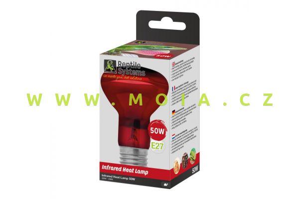 Basking Infra Red Heat Lamp E27, 50 W – IR zdroj Reptile Systems pro optimální teplotu