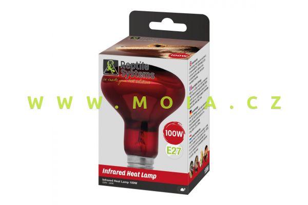 Basking Infra Red Heat Lamp E27, 100 W – IR zdroj Reptile Systems pro optimální teplotu
