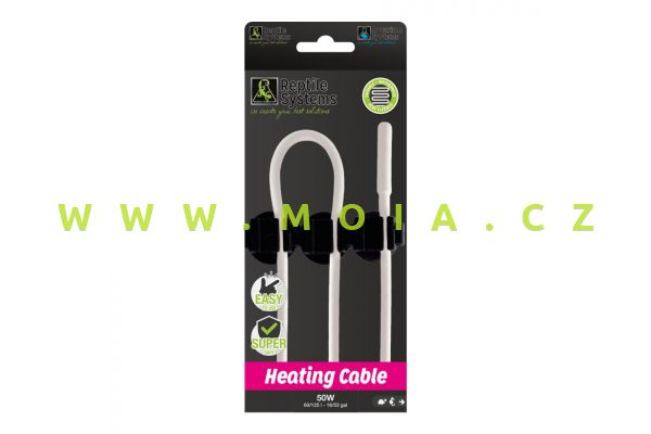 Heating Cable 50 W, 6 m – vodotěsný topný kabel Reptile Systems s možností regulace