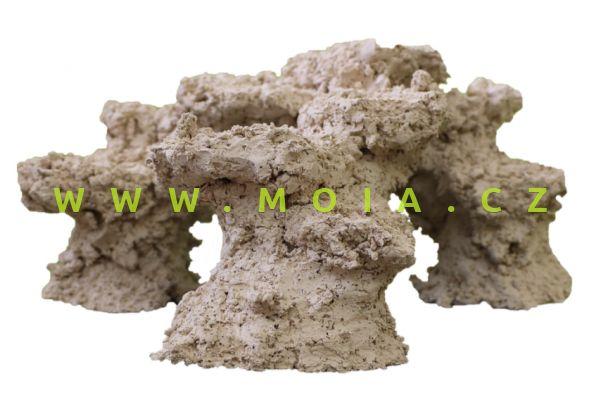 Porous Ceramic Minireef 40 × 40 × 20 cm, dekorace keramický rifový útes na 3 nohách