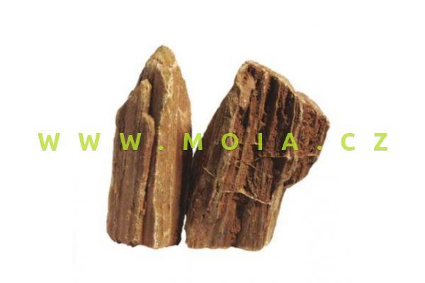 Estetická dekorace – Stonewood – Zkamenělé dřevo s červeným nádechem, cena/kg