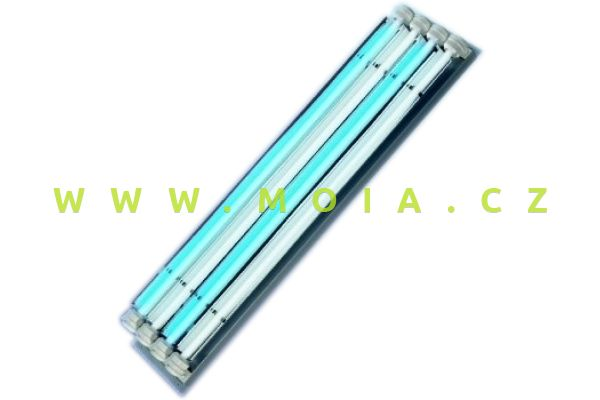 Osvětlovací těleso T5 4× 54 W (123 × 20 × 9 cm) se dvěma přívodními kabely