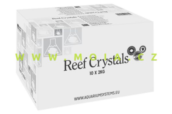 Mořská sůl AQUARIUM SYSTEMS REEF CRYSTALS 20 kg – 600 l, karton 10× 2 kg