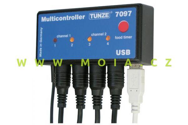 Počítač akvarijní - Multicontroller 7097- regulace TUNZE proud. čerpadel a LED