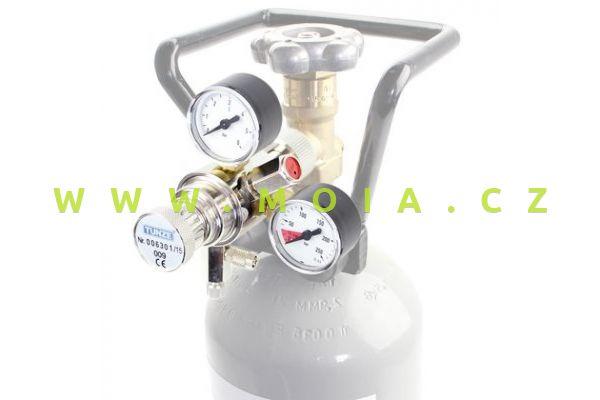 Co2 redukční ventil TUNZE 7077/3, 2 manometry a jehlový ventil
